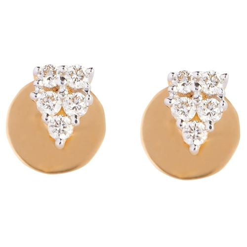 V Design Diamonds Earring