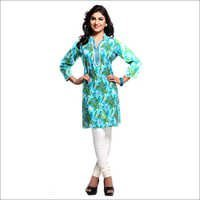 C Green Chinese Collar Kurta