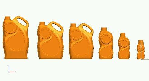 Plastic HDPE Lubricant Bottles