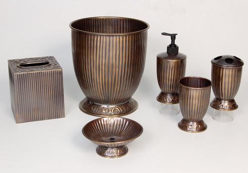 Decorative Brass Bathroom Set