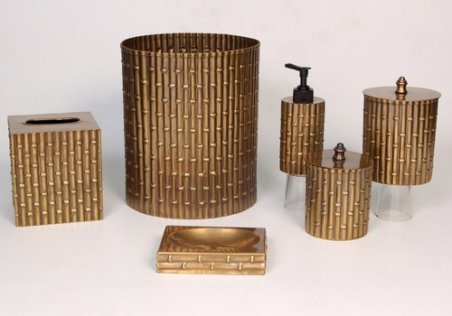 Brass Bathroom Set