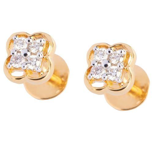 4 diamond earring