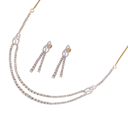 2 line party wear necklace