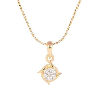 Kite shape diamond pendent