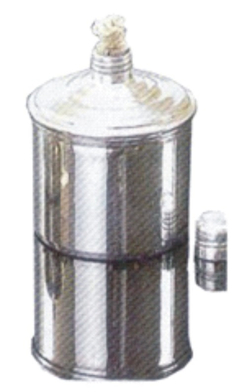 ALCOHOL BURNER, ALUMINUM