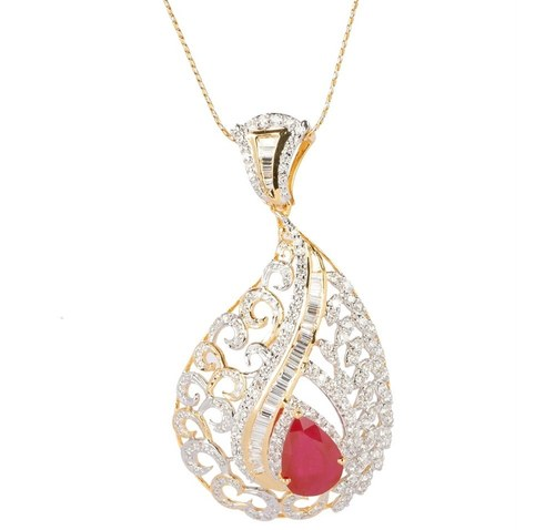 Ruby and Diamond pendent
