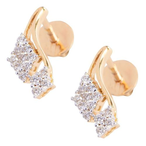 Kite Shape Diamond Earring