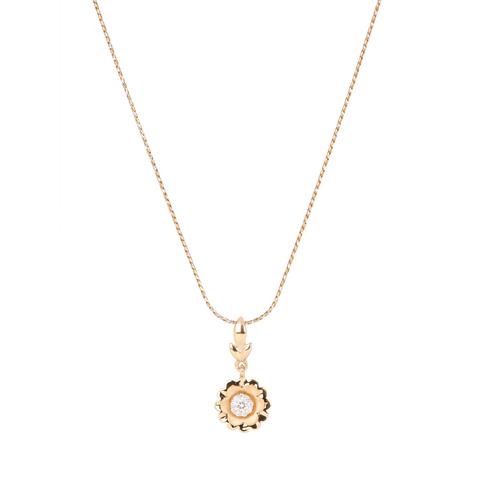 Floral daily wear Diamond Pendant