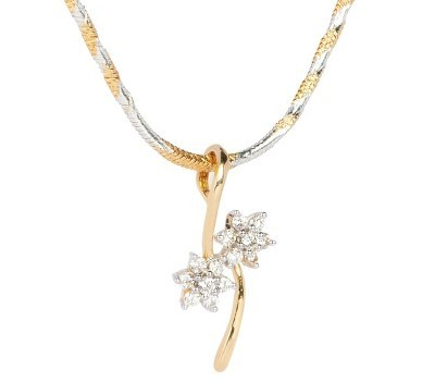 Beautiful Flower Diamond Pendant