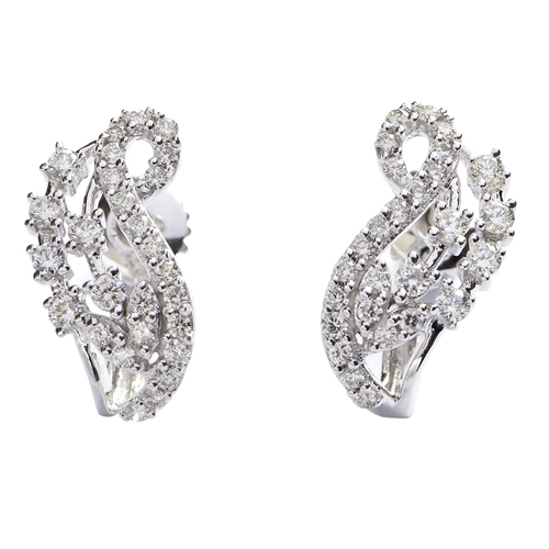 Contemporary Style Diamond Earring