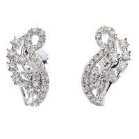 Contemporary Style Diamond Earring