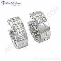 New Fashionable Cubic zirconia Gemstone Silver Earrings