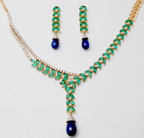 precious gemstone jewelry manufacture from india, indian colorstone gold jewelry sets for wholesale