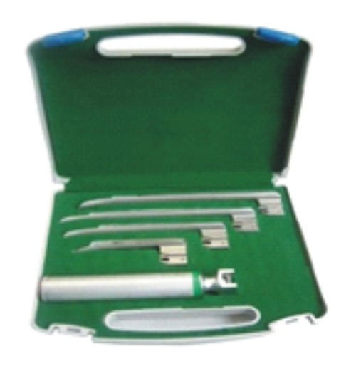 Reusable Professional Miller Fiber Optic Laryngoscope Set