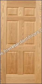 6 Panel Moulded Veneer Door