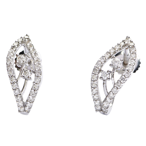 Heart shape diamond earring