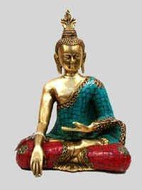 Combodia Buddha Sitting W/ Stone Work