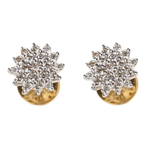 Dazzling Diamond Flower Earring
