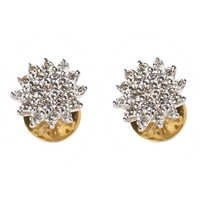 Dazzling Diamond Flower Earring