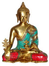 BUDDHA MEDICINE W/ OUT BASE STONE WORK