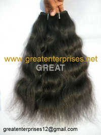 Natural Wavy Machine Weft