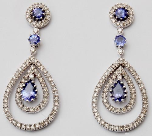 latest earring design for girls, partywear gold gemstone jewelry supplier