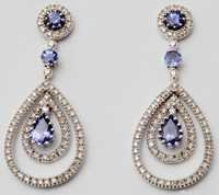 latest earring design for girls, partywear gold gemstone jewelry supplier