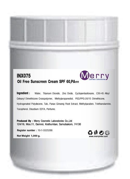 Oil Free Sunscreen Cream SPF 60,PA++