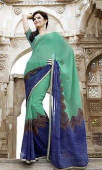 Green Designer Sarees