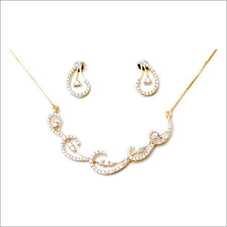 small diamond necklace set for price less than 2000 usd, low price range solid gold diamond set