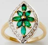 micropave diamonds and emerald ring, emerald jewelry manufacturer from india