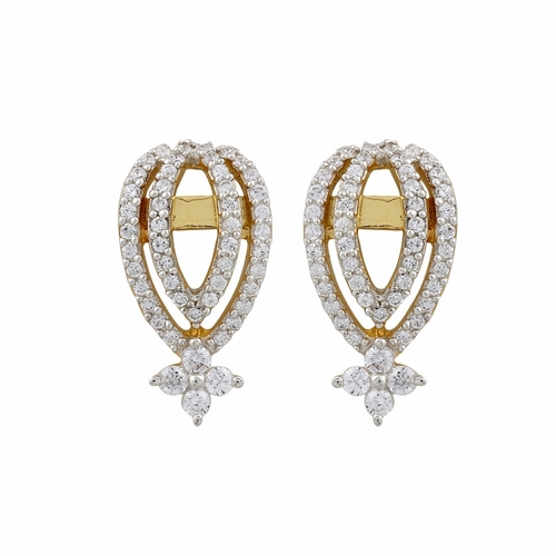 Contempory Design Diamond Earring
