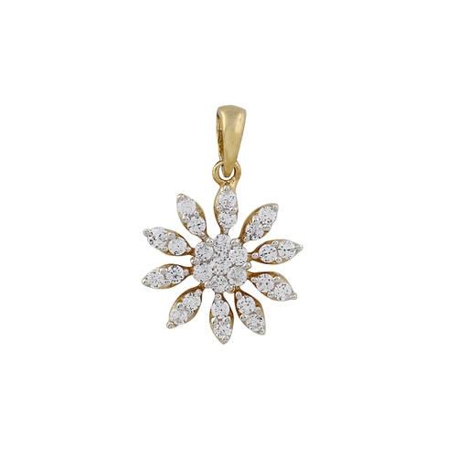 Evergreen Floral Diamond Pendent