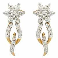Adorable Hoop Style Diamond Earring