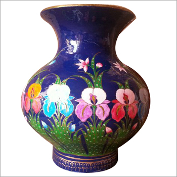 Hand Painted Paper Machine Vase