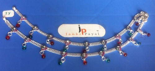 silver anklets designs