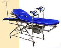 OBSTETRIC TELESCOPIC LABOUR TABLE (STAINLESS STEEL)