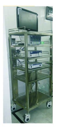 LAPRO EQUIPMENT TROLLEY STAINLESS STEEL