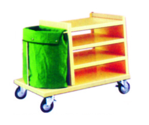 LINEN TROLLEY WITH SHELVES