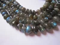 Labradorite faceted onion beads