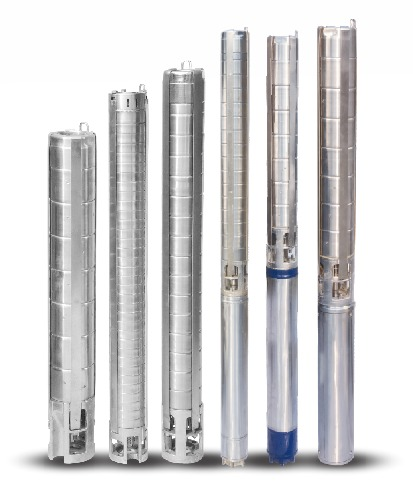 Stainless Steel V4 Borewell Submersible Pumps (Water Filled) 100 mm