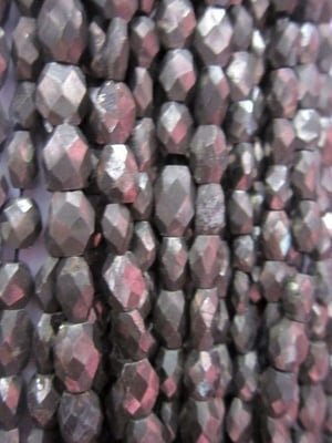 Pyarite Faceted oval Beads