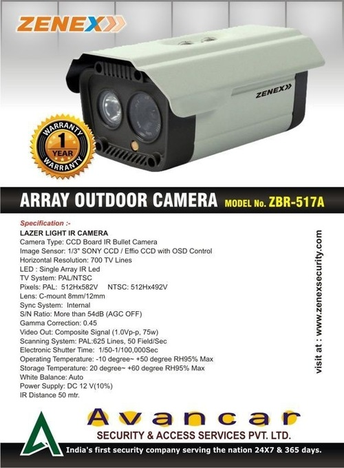 Array IR LED Bullet Camera