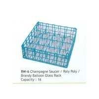 Brandy Glass Wire Racks