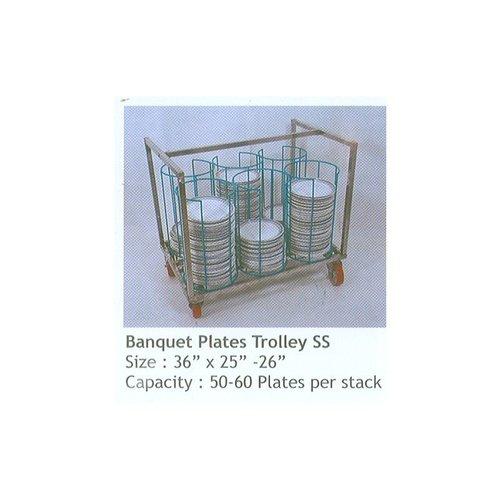 SS Banquet Plate Trolleys