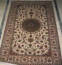 100% silk  Hand Knotted carpet