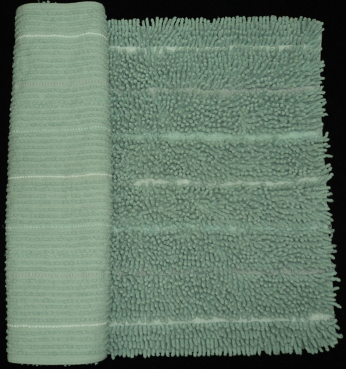 Green Chenille Bath Mat