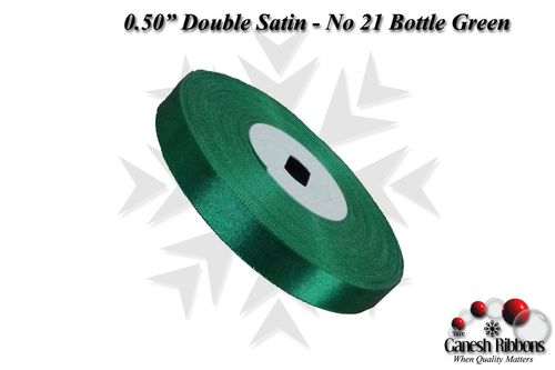 Double Face Satin - Bottle Green