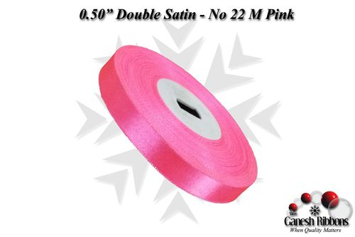 Double Satin Ribbons - M Pink