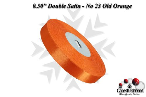 Double Face Satin - Old Orange